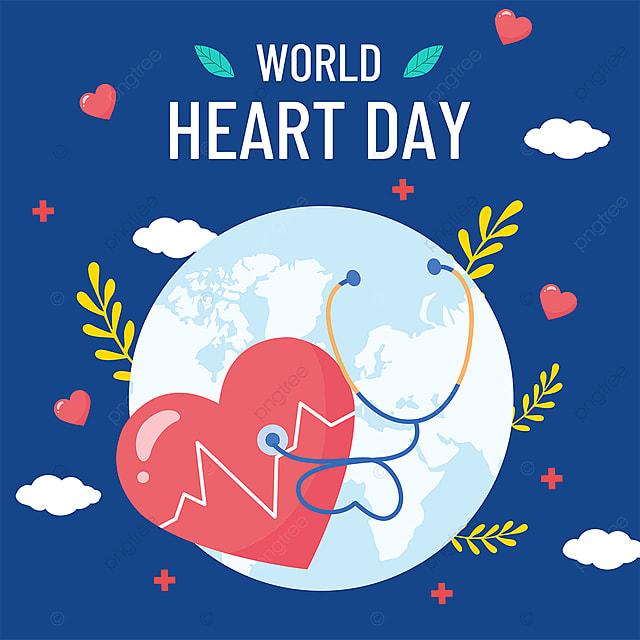 blue creative plant earth world heart day media social template