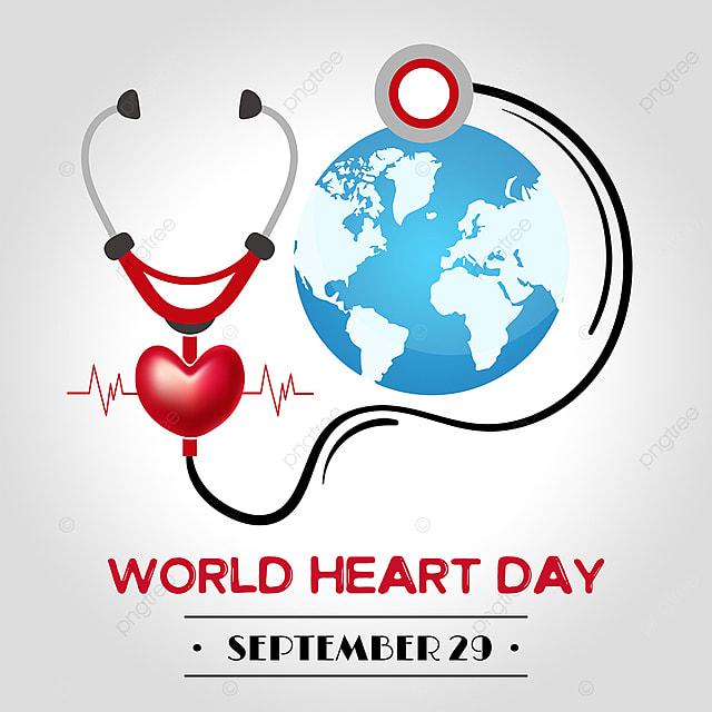 simple high end creative stethoscope earth world heart day media social template