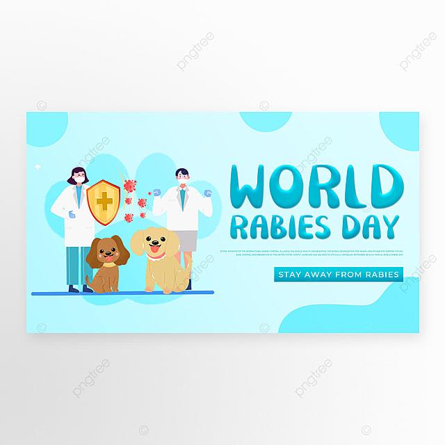 blue gradient world rabies
