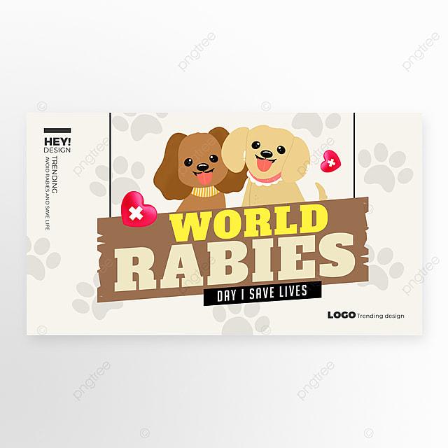 simple cartoon world rabies web banner