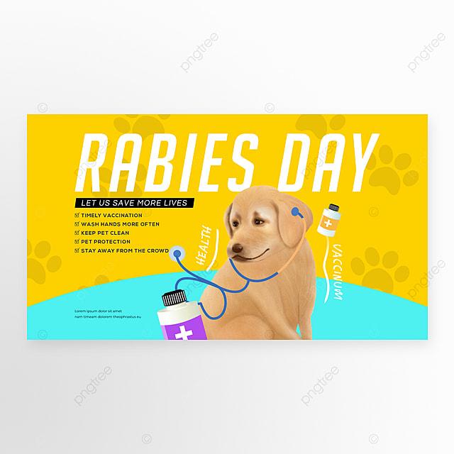 simple colors cartoon cute rabies web banners