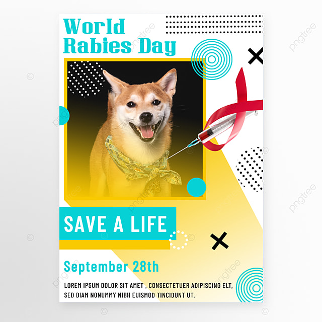 colorful geometry world rabies day promotion