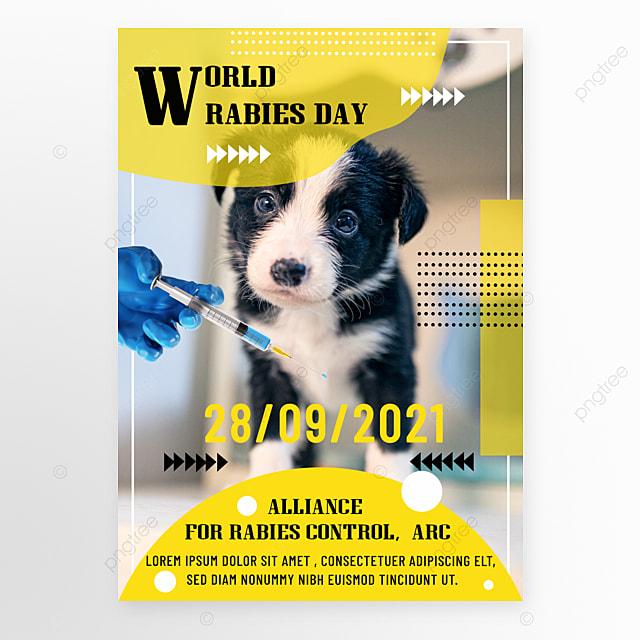 fashion yellow world rabies day promotion