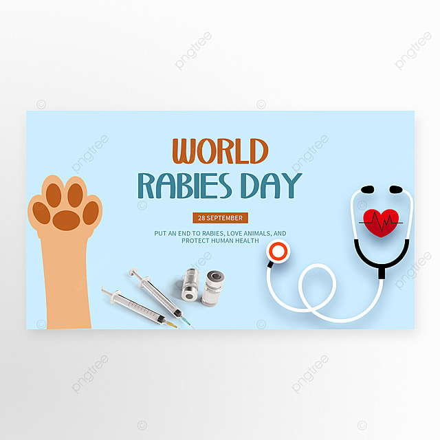 blue world rabies day banner