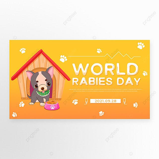yellow gradient world rabies day