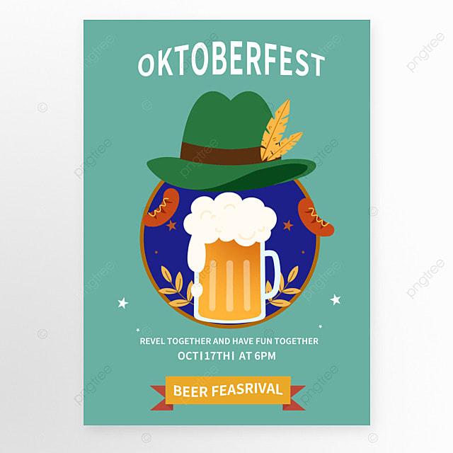 german oktoberfest blue poster