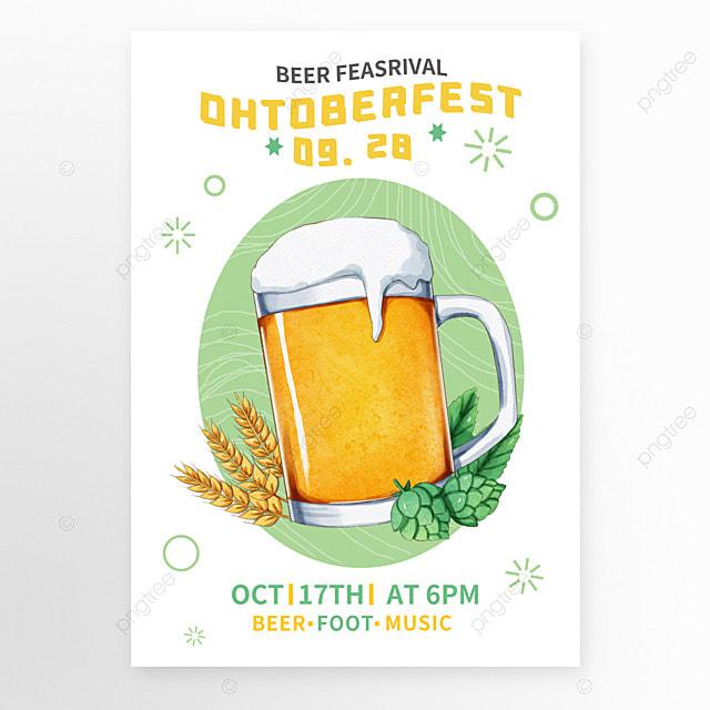 germany oktoberfest green poster