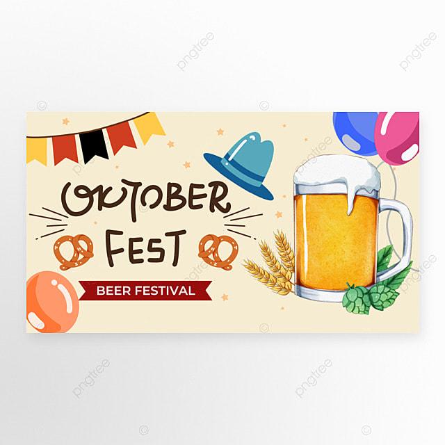 oktoberfest festival beige banner