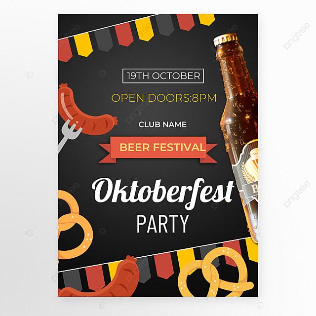 oktoberfest festival black poster