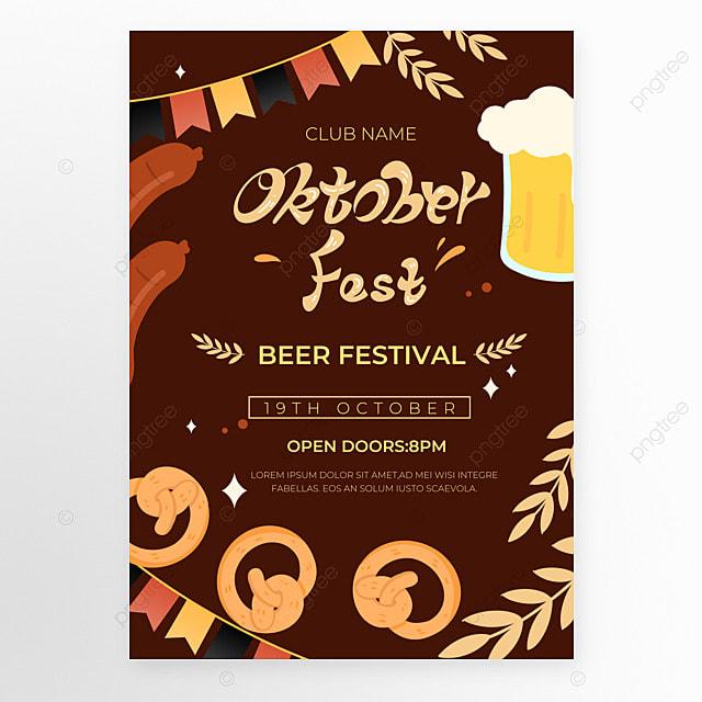 oktoberfest festival dark brown poster