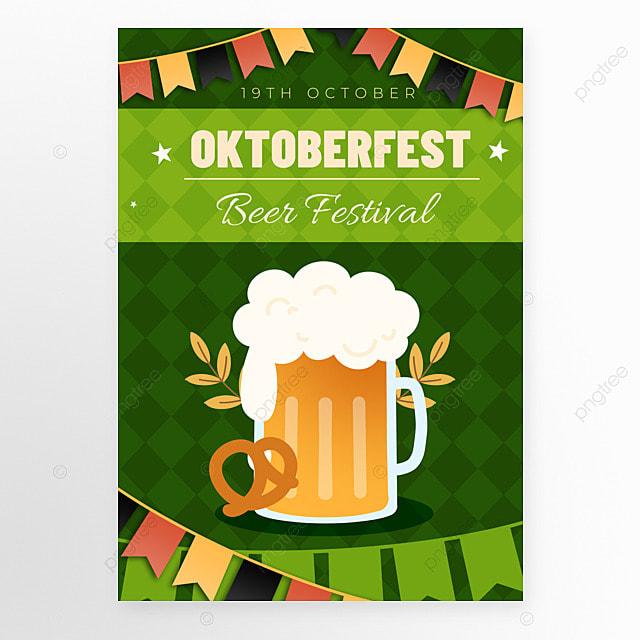 oktoberfest festival green poster