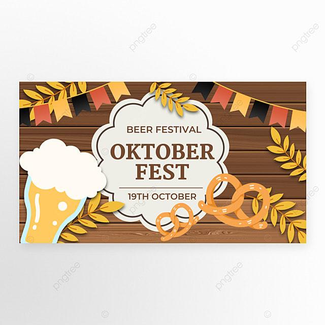 oktoberfest festival wooden bottom poster