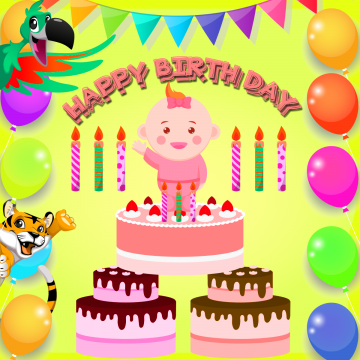 happy birthday wish card template