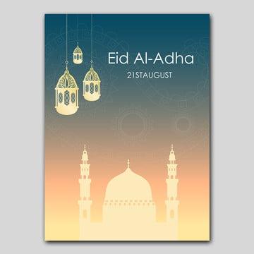 eid al adha poster design Template