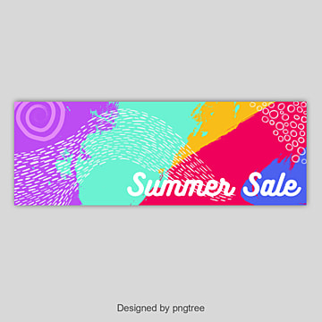 Abstract colorful summer sale banner, Abstract, Colorful, Summer Sale PNG and Vector