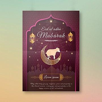eid al adha festival poster Template