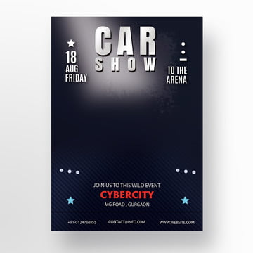 Standee Templates Design Templates For Free Download - Blank car show flyer