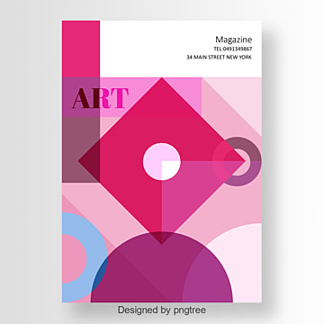 modern poster with colorful geometric art design Template