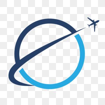 travel logo airplane globe tourism vector icon Template