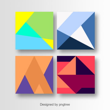Colorful geometric card art design, Colorful Cards, Lines, Geometric PNG and Vector