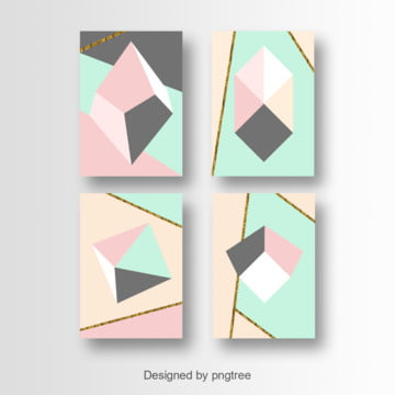 colorful geometric card art design Template