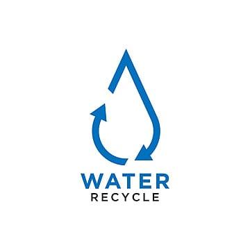pngtreeにリサイクル水滴ロゴデザインテンプレートベクトルテンプレート