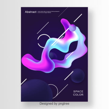 Abstract poster with gradients elements, Poster, Abstract Poster, Gradient PNG and Vector