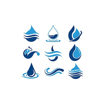 water fire drop logo template for free download on pngtree
