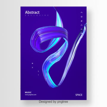 abstract creative style new trend poster Template