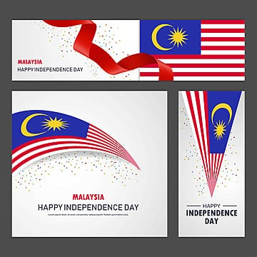 happy malaysia independence day banner and background set Template