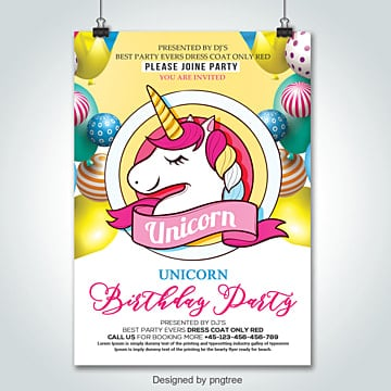 Birthday Party Invitation Png Vector Psd And Clipart With