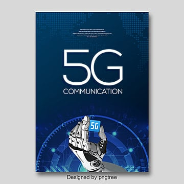 in the 5g navy blue poster template Template