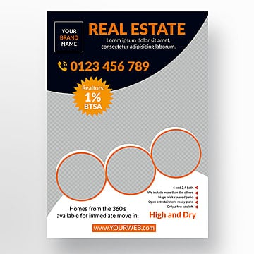 real estate flyer template for free download on pngtree