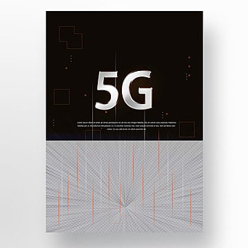 Dark Blue Fashion Modern 5G Communication Poster Template