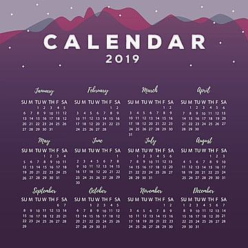2019 Calendar Png Vectors Psd And Clipart For Free Download Pngtree