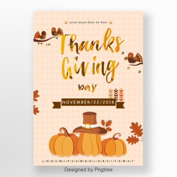 2018 Koreas Thanksgiving Pumpkin Poster Template