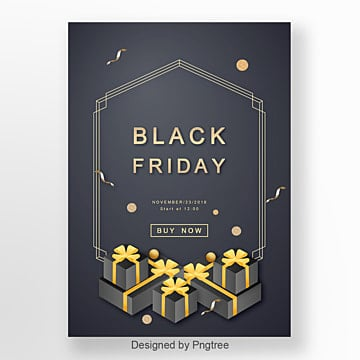 black gold promotional poster templates 2 design templates for free