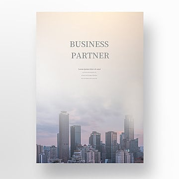 multiple exposure photography art business handshake with urban construction  commercial poster bed Template