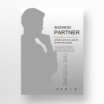 Double Exposure Poster for Business Cooperation Template