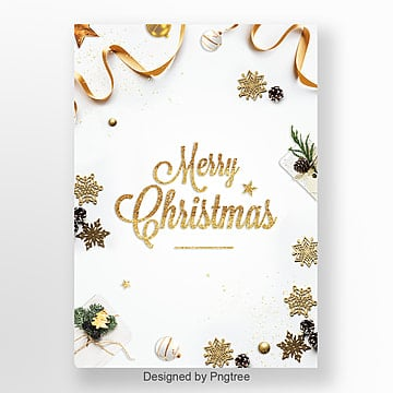 simple white high end atmosphere christmas poster design Template