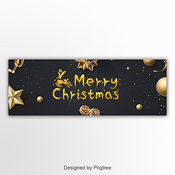 black fashion luxury christmas simple web page banner Template