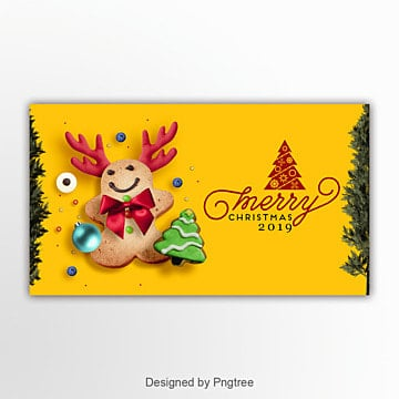 fashion color cartoon christmas page banner Template