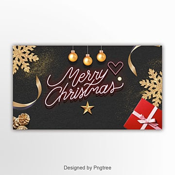 fashion  luxury  simple christmas page banner Template