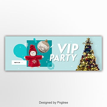 fashion modern simple christmas page banner Template