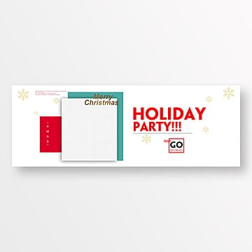 fresh and fashionable christmas party website banner Template