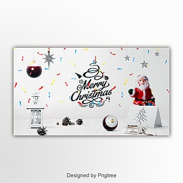 fresh and fashionable christmas website banner Template