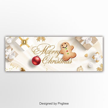 fresh fashion simple christmas happy website banner Template