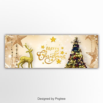 golden luxury fashion christmas temperament banner Template
