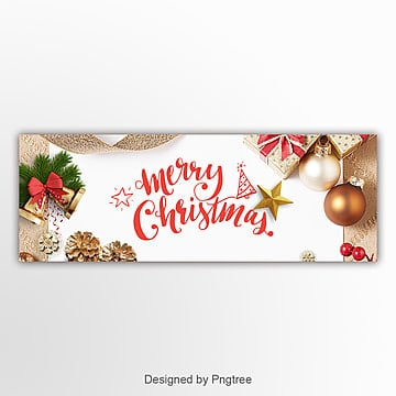 high end fashion christmas banner Template