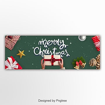 modern fashion luxury christmas web banner Template